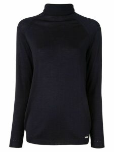 Kiton turtleneck relaxed-fit jumper - Blue