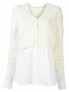 T By Alexander Wang two layer cardigan - White