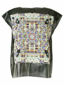 Tata Christiane perforated round-neck top - Black