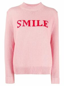 Chinti and Parker Smile intarsia knit jumper - PINK