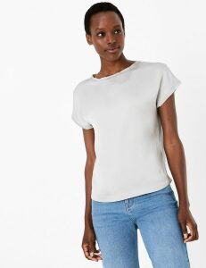 M&S Collection Slash Neck Straight Fit Blouse