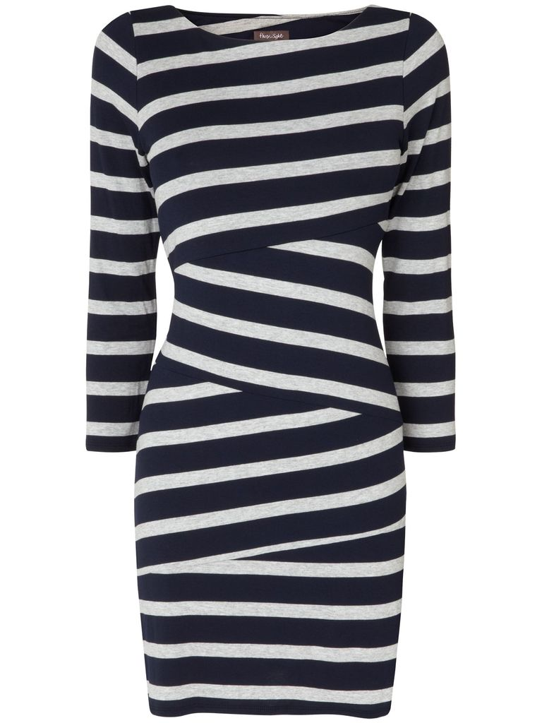 Phase Eight Stripe cut about tunic, Navy